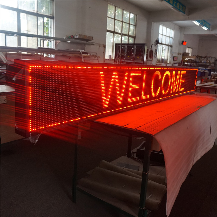 Door head semi-outdoor <strong>P10</strong> single red color led advertising display sign