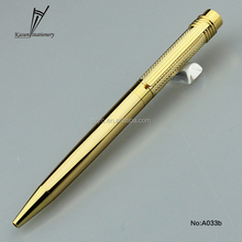 2016 new stationery gold color metal ball pen imports from china