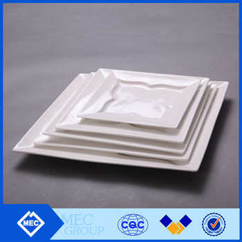 Chinese and Western microwave safe steak plate , square butterfly steak ceramic plate