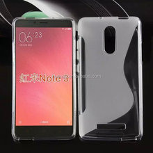 best selling products S Line TPU soft skin gel case back cover for XiaoMi RedMi Note 3 mobile phone cover