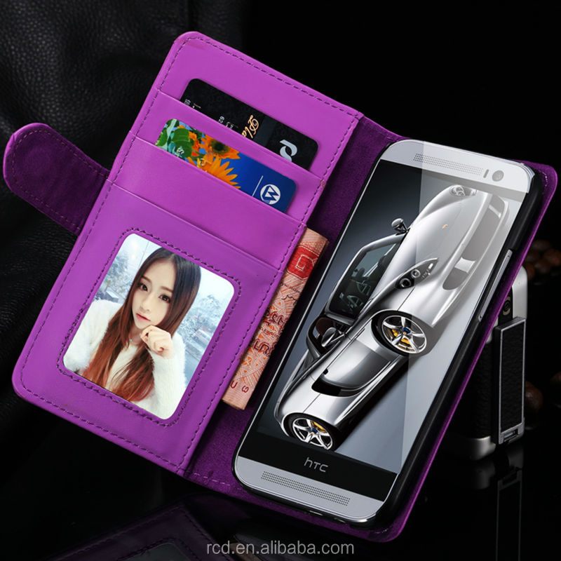 Luxury Money Case For HTC ONE M8 Flip Cover For HTC M8 Leather Case RCD03869
