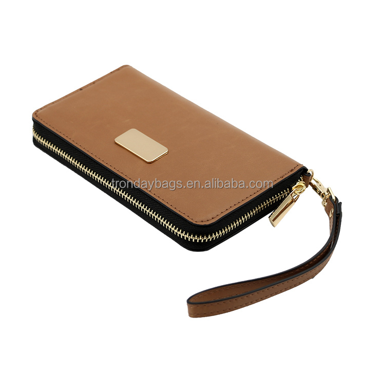 Clutch wallet ladies bag with iphone6 pocket, coin purse and card holder