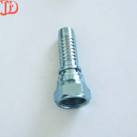 High pressure swaged Hose Nipple,JIC Female 74 Degree Cone Seat Double Hex hydraulic hose fittings
