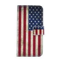 New product Card Holder Flip Flag of USA Wallet PU Leather Case For iPhone 6 4.7 inch
