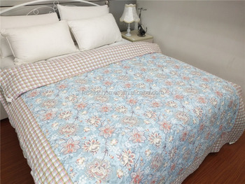 Wholesale printed flower quilt set, Microfiber bedding sets, Printing quilt