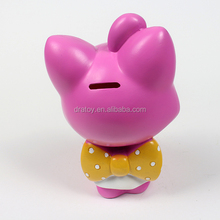 Fashion plastic cartoon character doll custom coin bank
