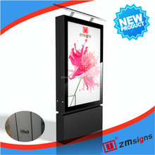 ZM-206 outdoor advertising digital display screens solar power transparent mesh display