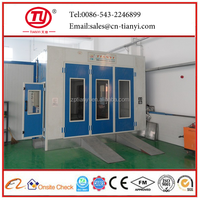 Tianyi manufacturer supply water curtain spray booth/car paint heater spray booth/auto spray booth
