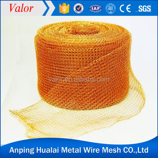 hot sale phosphor bronze gas liquid filter mesh knitted wire mesh