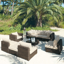 Tropical bali style resort leisure wicker rattan sofa set outdoor wholesale lounge furniture