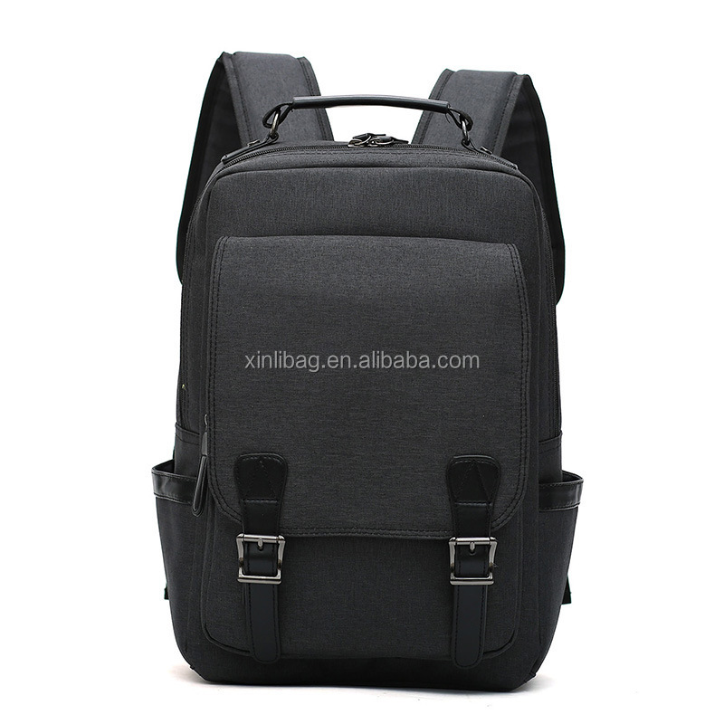 Wholesale Canvas simple schoolbag laptop bag travel backpack for students
