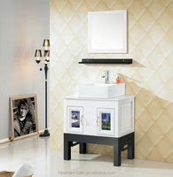 HM-073(ABS)Modern design Wall-Mounted Bathroom Single Sink Vanity Cabinet furniture w sink top & Mirror