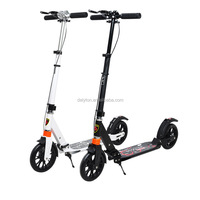 200MM Big Wheel Aluminum kick hand brake adult scooters for sale