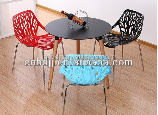 new modern cheap round dining table MDF solid wood dining table for restaurant garden dining room furniture wholesale