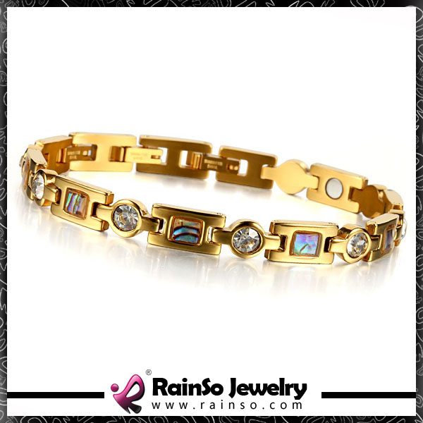 Resistant to rust rare earth magnet clasp bracelet ,gold plating bracelet with magnet