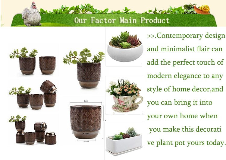 Decorative miniature bali garden pots for sale planting pots cheap plant pot