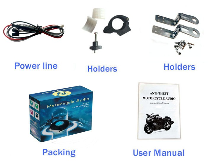 Waterproof and Bluetooth motorcycle spare parts with mp3
