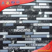 KS188 black glass garden resin glass mosaic sea shell tile resin glass tile for restaurant wall decorative