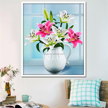 Beautiful flower 3D picture wall art DIY diamond painting