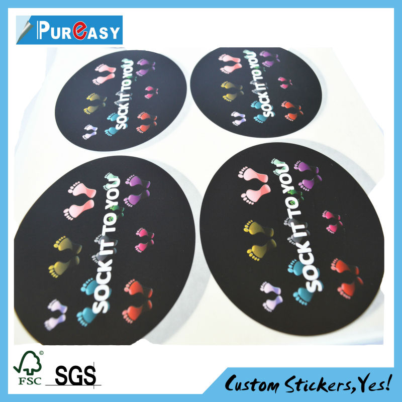Custom printing shape cut decals gift for girls and boys