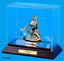 24K gold plated Virgo Stand Packed in Acrylic Box with crystals from swarovski