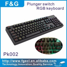 2017 best selling Plunger gaming keyboard with mechanical typing feeling and full RGB color