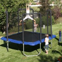 New Trend High Quality Deqing Supplies Outdoor Exercise Gymnastics Useful Cheap Gymnastic Square Trampoline