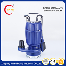 China manufacturer aluminum casing multi stage submersible pumps industrial pump with float switch