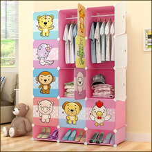 Factory direct multifunction newest cartoon design kids PP plastic almirah