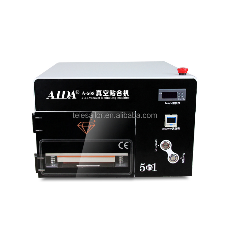 5 IN 1 OCA vacuum laminating machine AIDA A508 for 7 inch screen, build-in air bubble removing machine