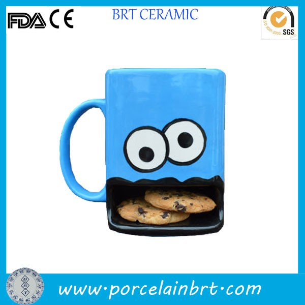 Stupid Monster Face Ceramic Cookie Mug