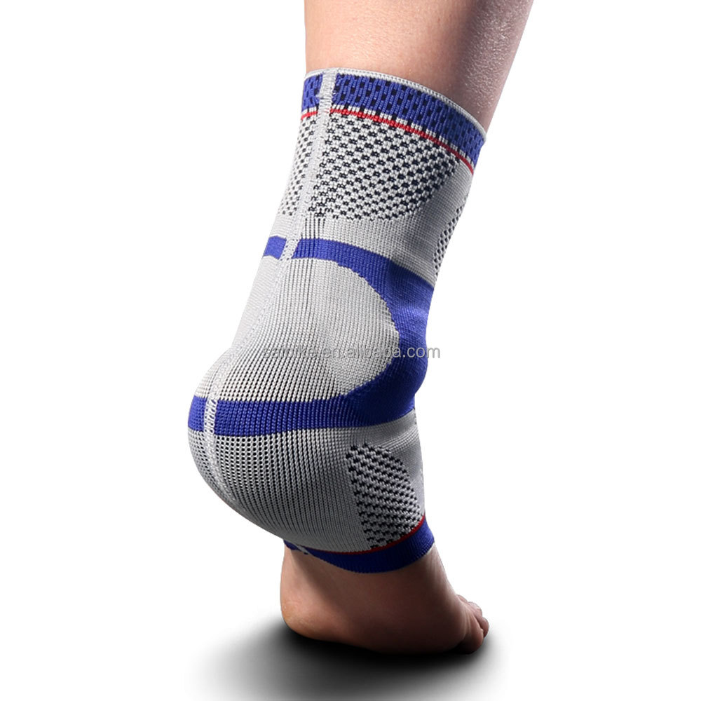 Five Star Compression Ankle Sleeve Silicone Pad Support Elastic ankle support with silicone gel inside