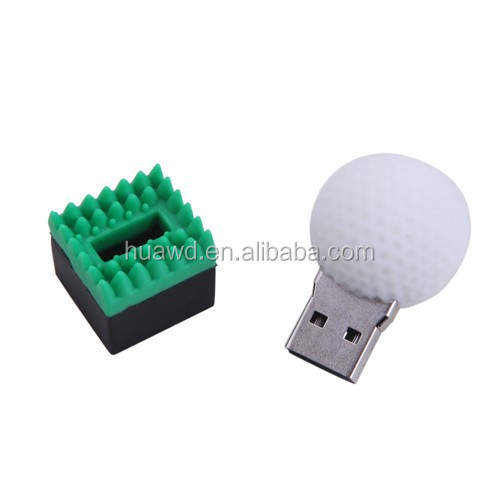 Custom rubber round ball golf shaped usb flash drive wholesale