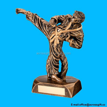 Gold Resin Karate Figure Trophy