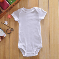 CNF Price/Accept Private Labels Short Sleeve Pure White Baby Onesie