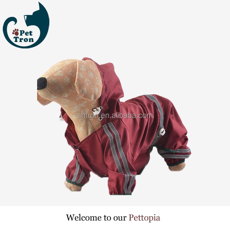 China manufactory high quality fashionable pet dog raincoat