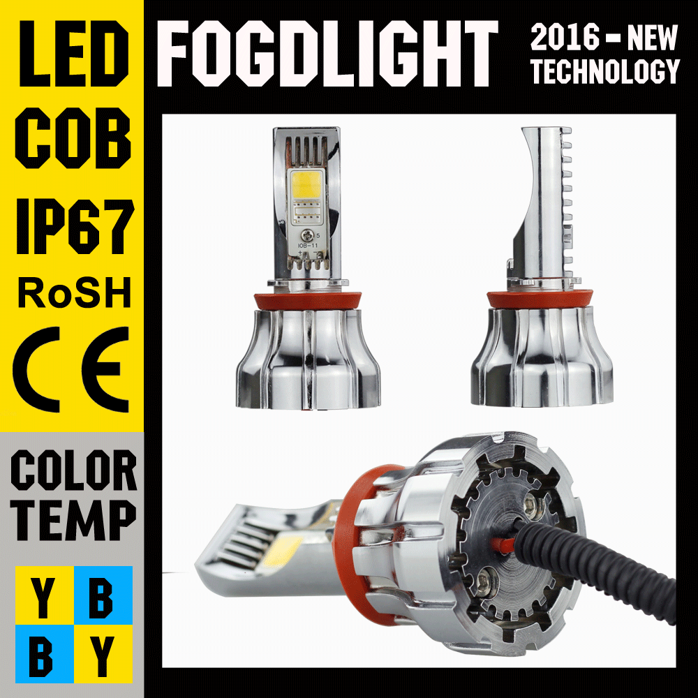 2016 15W 1500LM CRE LED Off Road Rear Fog Lights of 6000K White H8 H9 H11