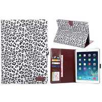 Leopard Pattern leather case for ipad air2, for ipad 6 cases