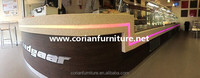 Custom size wood commercial bar counters