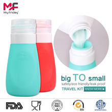 Wholesale colorful bpa free silicone 55ml solad travel bottle