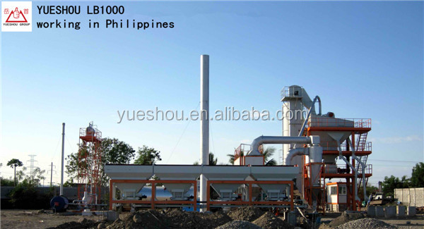 Asphalt Batching Plant LB1000 with output 80t/h in Philippines