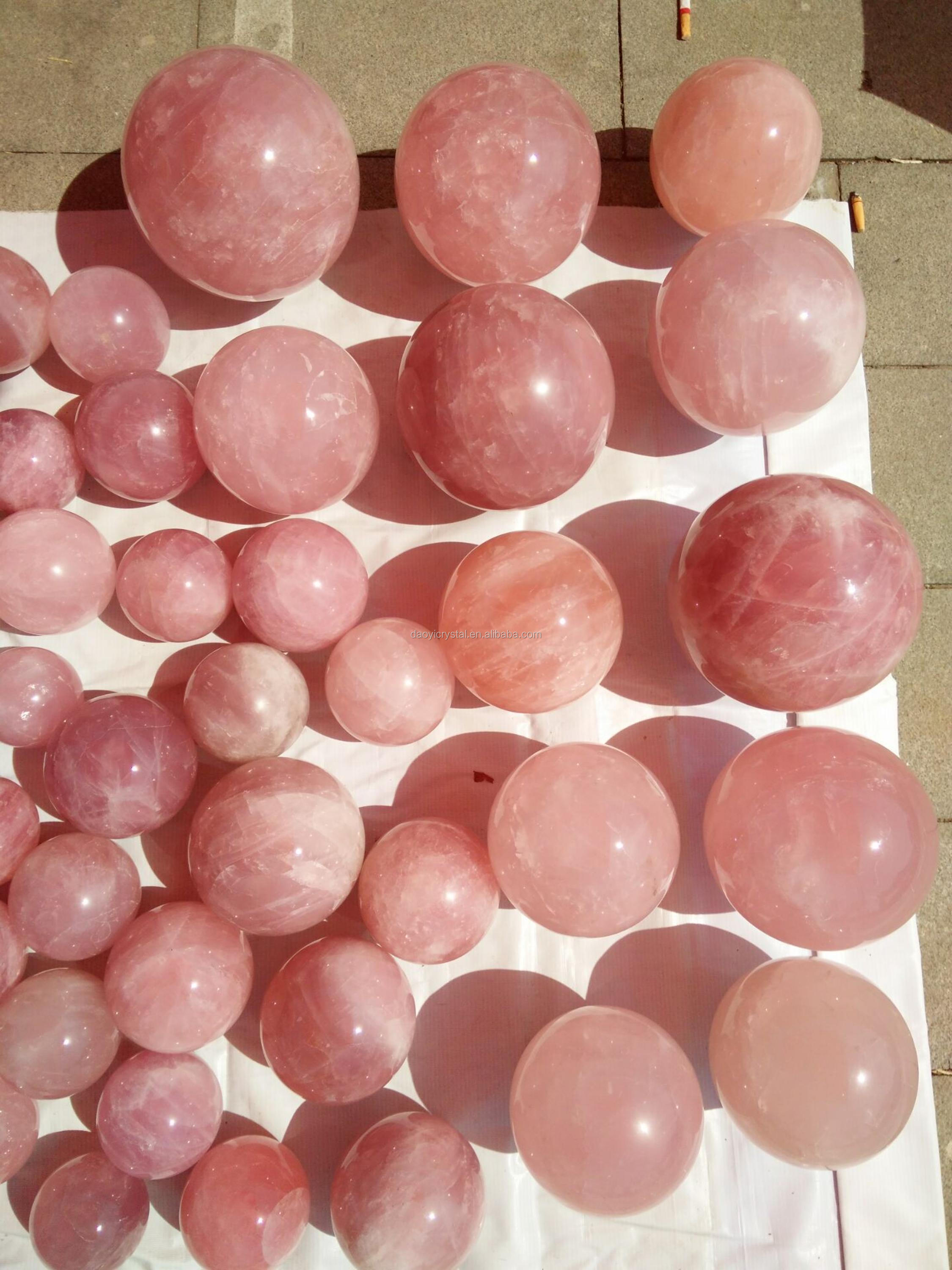 Wholesale classic natural rose quartz ball rock crystal ball crystal sphere