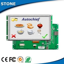"4.3"" hitech tft display lcd monitor module touch screen as Large Boiler hmi"