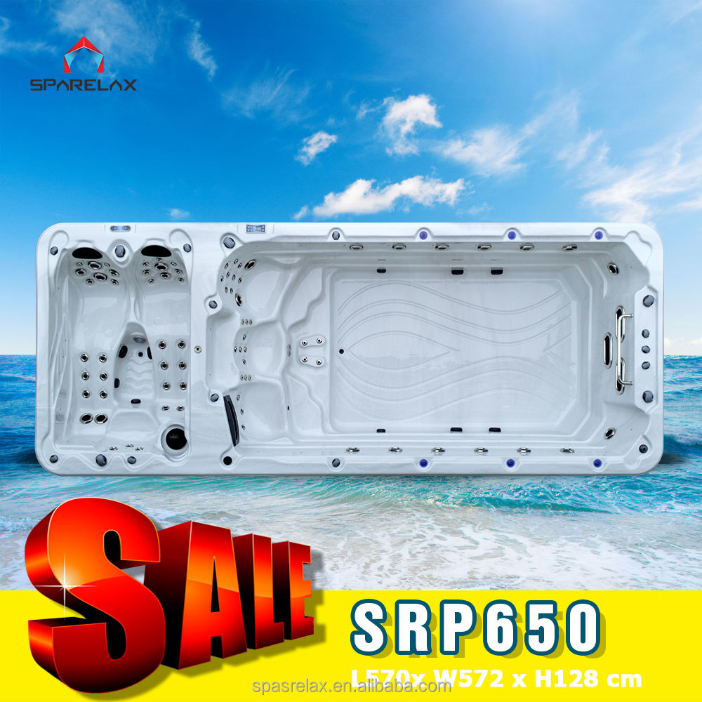 Newest Europe luxury big powerful jets TV outdoor spa hot tub swim spa pool jakuzzier function