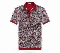 2016 New style men short sleeves polo t shirt printing 100% cotton