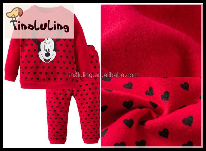 2015 cheap newborn baby clothing set fleece baby pajama winter warm and comfortable kids clothes