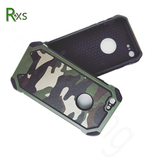Hot selling silicone PC 3 in 1 army hybrid camouflage mobile phone case for iphone 7