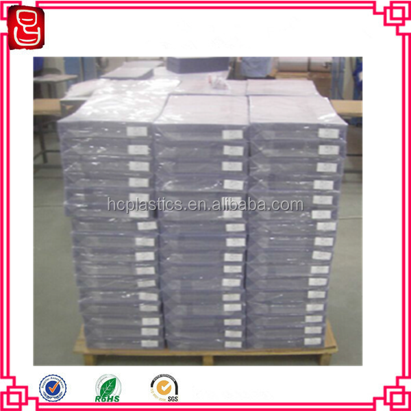 factory A4 size 0.08m transparent coated PVC coated overlay film