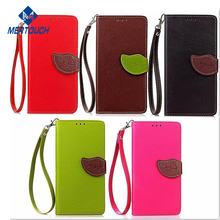 Amazon Aliexpress hot selling Lichee PU leather leaf design magnet button wallet phone cover , for iphone x case wallet leather