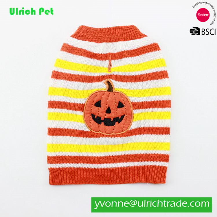Z18 hot sale stripe knitting pet clothes halloween dog clothes sweater